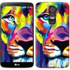 Чехол для LG G2 Разноцветный лев 2713u-37