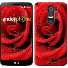 Чехол для LG G2 Красная роза 529u-37