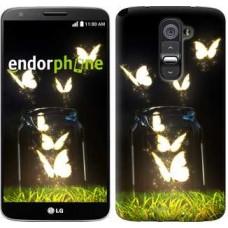 Чехол для LG G2 Светящиеся бабочки 2983u-37