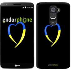 Чехол для LG G2 Жёлто-голубое сердце 885u-37