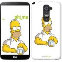 Чехол для LG G2 Задумчивый Гомер. Симпсоны 1234u-37