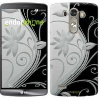 Чехол для LG G3 D855 Цветы на чёрно-белом фоне 840c-47