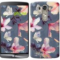 Чехол для LG G3 D855 Нарисованные цветы 2714c-47