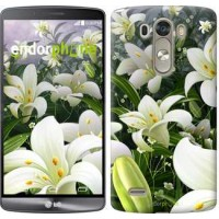 Чехол для LG G3 dual D856 Белые лилии 2686c-56