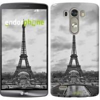 Чехол для LG G3 dual D856 Чёрно-белая Эйфелева башня 842c-56