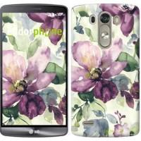 Чехол для LG G3 dual D856 Цветы акварелью 2237c-56