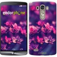Чехол для LG G3 dual D856 Пурпурные цветы 2719c-56