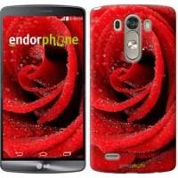 Чехол для LG G3 dual D856 Красная роза 529c-56