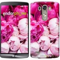 Чехол для LG G3 dual D856 Розовые пионы 2747c-56