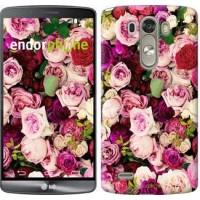 Чехол для LG G3 dual D856 Розы и пионы 2875c-56