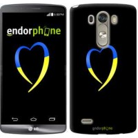 Чехол для LG G3 dual D856 Жёлто-голубое сердце 885c-56