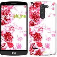 Чехол для LG G3 Stylus D690 Нарисованные розы 724m-89