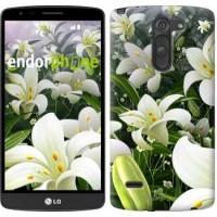 Чехол для LG G3 Stylus D690 Белые лилии 2686m-89