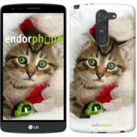 Чехол для LG G3 Stylus D690 Новогодний котёнок в шапке 494m-89