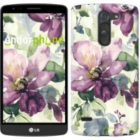 Чехол для LG G3 Stylus D690 Цветы акварелью 2237m-89
