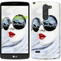 Чехол для LG G3 Stylus D690 Девушка акварелью 2829m-89