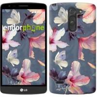 Чехол для LG G3 Stylus D690 Нарисованные цветы 2714m-89