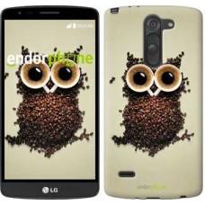 Чехол для LG G3 Stylus D690 Сова из кофе 777m-89