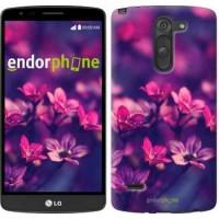 Чехол для LG G3 Stylus D690 Пурпурные цветы 2719m-89