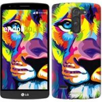 Чехол для LG G3 Stylus D690 Разноцветный лев 2713m-89