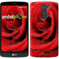 Чехол для LG G3 Stylus D690 Красная роза 529m-89