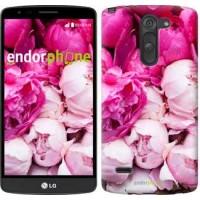 Чехол для LG G3 Stylus D690 Розовые пионы 2747m-89