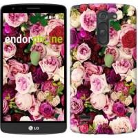 Чехол для LG G3 Stylus D690 Розы и пионы 2875m-89