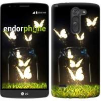 Чехол для LG G3 Stylus D690 Светящиеся бабочки 2983m-89