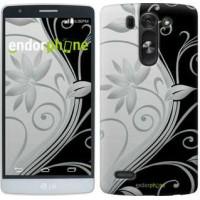 Чехол для LG G3s D724 Цветы на чёрно-белом фоне 840m-93