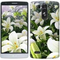 Чехол для LG G3s D724 Белые лилии 2686m-93
