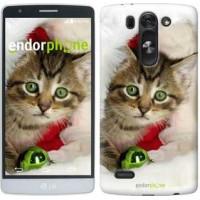 Чехол для LG G3s D724 Новогодний котёнок в шапке 494m-93