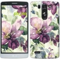Чехол для LG G3s D724 Цветы акварелью 2237m-93