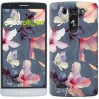 Чехол для LG G3s D724 Нарисованные цветы 2714m-93