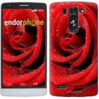 Чехол для LG G3s D724 Красная роза 529m-93