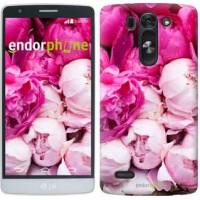 Чехол для LG G3s D724 Розовые пионы 2747m-93