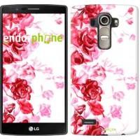 Чехол для LG G4 H815 Нарисованные розы 724u-118