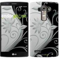 Чехол для LG G4 H815 Цветы на чёрно-белом фоне 840u-118