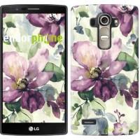 Чехол для LG G4 H815 Цветы акварелью 2237u-118