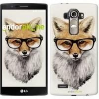 Чехол для LG G4 H815 Лис в очках 2707u-118