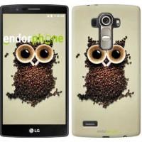 Чехол для LG G4 H815 Сова из кофе 777u-118