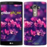 Чехол для LG G4 H815 Пурпурные цветы 2719u-118