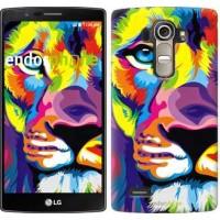 Чехол для LG G4 H815 Разноцветный лев 2713u-118
