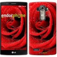 Чехол для LG G4 H815 Красная роза 529u-118