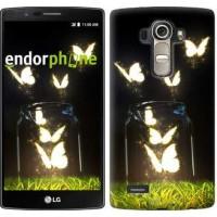 Чехол для LG G4 H815 Светящиеся бабочки 2983u-118