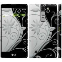 Чехол для LG G4c H522y Цветы на чёрно-белом фоне 840m-389
