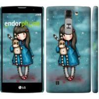 Чехол для LG G4c H522y Девочка с зайчиком 915m-389