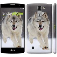 Чехол для LG G4c H522y Бегущий волк 826m-389