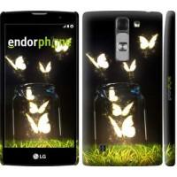 Чехол для LG G4c H522y Светящиеся бабочки 2983m-389