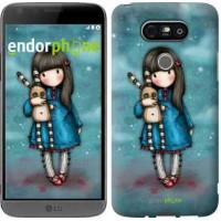 Чехол для LG G5 H860 Девочка с зайчиком 915m-348