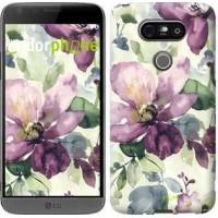Чехол для LG G5 H860 Цветы акварелью 2237m-348
